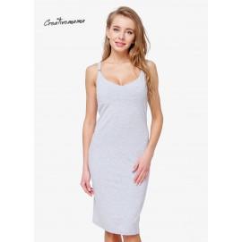 Платье для беременных и кормящих Creative Mama Bodycon GREY