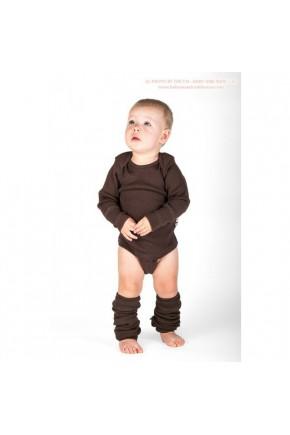Боди/кофта с длинным рукавом из шерсти мериноса MaM ManyMonths Chocolate Brown