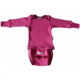 Боді/кофта з довгим рукавом з вовни мериноса MaM ManyMonths Wild Pink