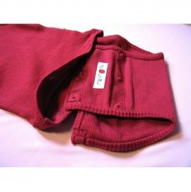 Боди/кофта с длинным рукавом из шерсти мериноса MaM ManyMonths Raspberry Red