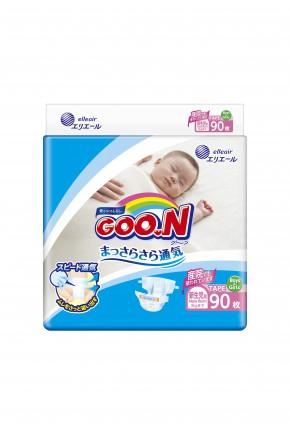 Подгузники для маловесных новорожденных Goo.N унисекс до 5 кг 90 шт