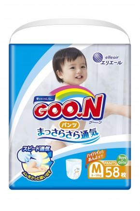 Подгузники для детей Goo.N унисекс 6-12 кг 58 шт