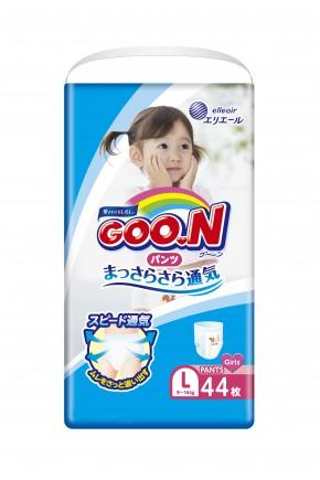 Подгузники для девочек Goo.N 9-14 кг 44 шт