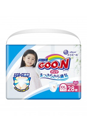 Трусики - подгузники для девочек Goo.N 13-25 кг 28 шт