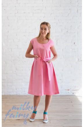 Платье для кормящих Milky Fairy розовый жаккард