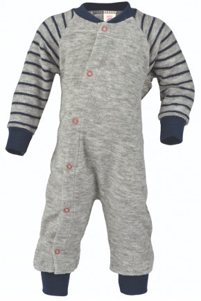 Пижама детская из мериносовой шерсти Engel серый меланж