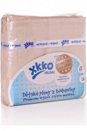 Муслиновые пеленки органические XKKO CTN070008 Natural 70х70