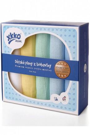 Муслиновые пеленки органические XKKO 70х70 для мальчика