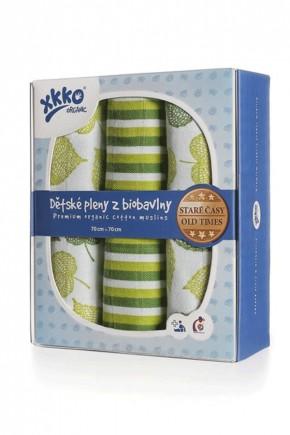 Пеленки из хлопка органические муслин XKKO 70x70 Old Times - Linden