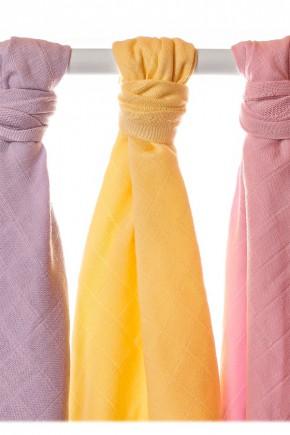 Муслиновые пеленки органические XKKO 90х100 для девочки