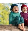 Леггинсы детские Engel из шерсти и шёлка синие в полоску