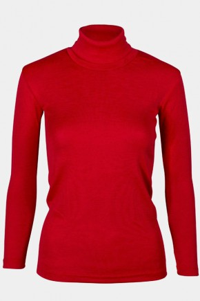Термогольф подростковый Engel из шерсти и шёлка красный