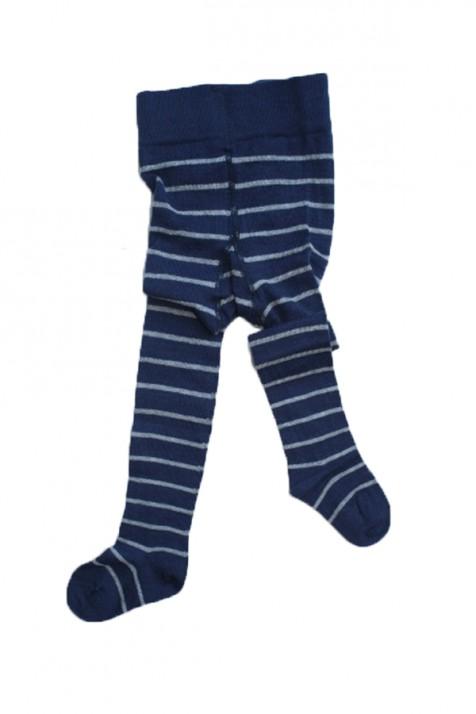 Термоколготки детские Groedo 74080 синий в полоску