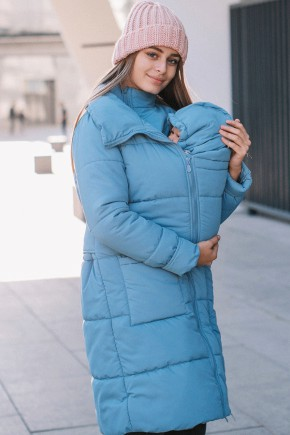 Зимняя слингокуртка 3в1 для беременных и слингоношения Love & Carry блу