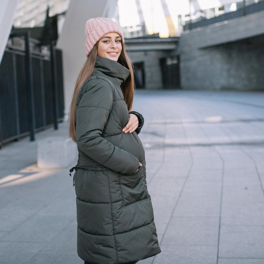 716c27b39ede ... Зимняя слингокуртка 3в1 для беременных и слингоношения Love   Carry  олива ...