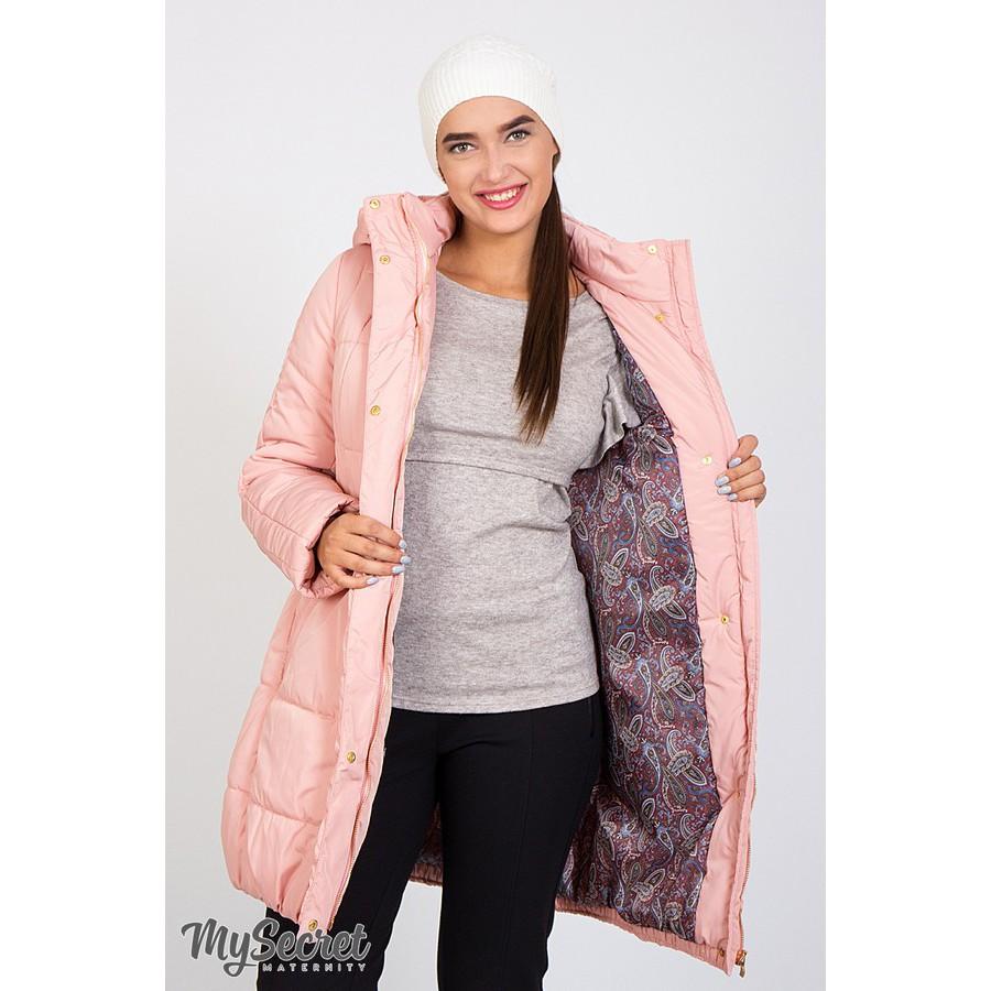 3f77c2d3b92722d ... Зимняя куртка для беременных Юла Mama Jena OW-46.093 пудра ...
