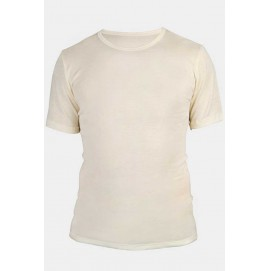 Мужская футболка Engel из шерсти и шелка бежевая