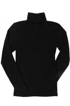 Мужская водолазка Engel из шерсти и шелка черная