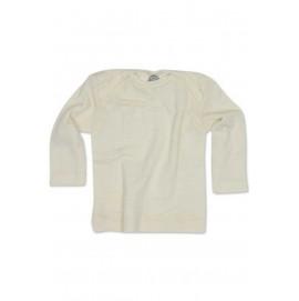 Кофточка длинный рукав, шерсть/шелк, натуральный цвет, Cosilana