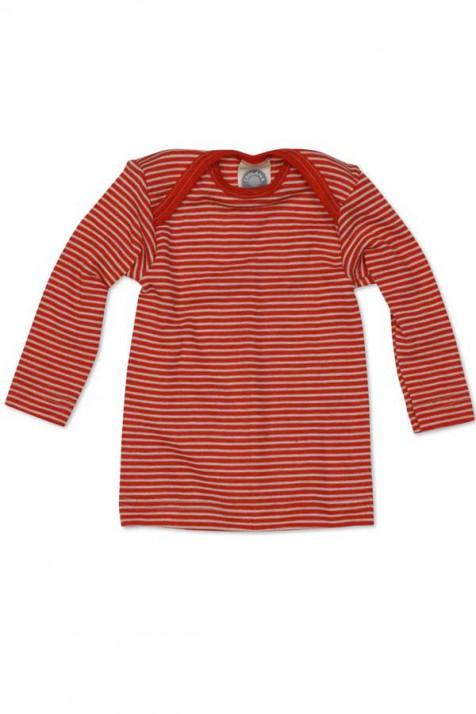 Кофточка на довгий рукав, шерсть/шовк, червоний колір, Cosilana