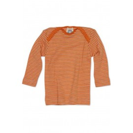 Кофточка длинный рукав, шерсть/шелк, оранжевый цвет, Cosilana