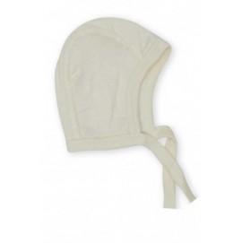 Термошапка для новорожденных из шерсти и шелка Cosilana натур