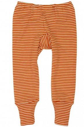 Штанишки шерсть/шелк, оранжевая полоска, Cosilana