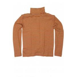 Гольф из шерсти и шелка оранжевая поска, Cosilana