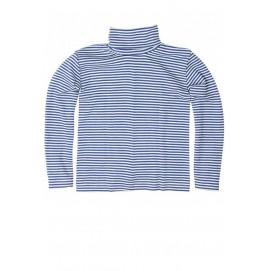 Гольф из шерсти и шелка синяя полоска, Cosilana