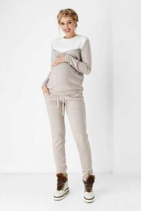 Спортивный костюм для беременных и кормящих Dianora бежевый меланж