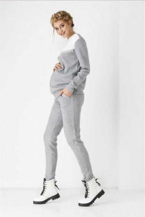 Спортивный костюм для беременных и кормящих Dianora серый меланж