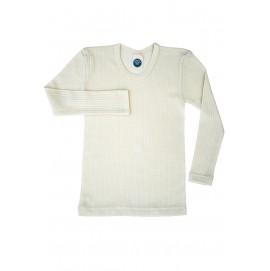 Термокофта Cosilana unisex c длинным рукавом из хлопка, шерсти и шелка натурного цвета