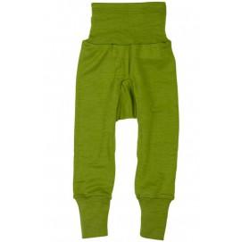 Штанишки c широкис поясом Cosilana шерсть/шелк Зеленый