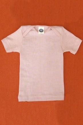 Кофточка Cosilana з коротким рукавом бавовна/шерсть/шовк колір рожевий