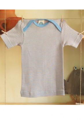 Кофточка Cosilana с коротким рукавом хлопок/шерсть/шелк в клетку