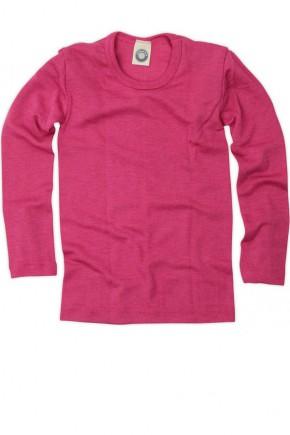 Кофточка на довгий рукав, бавовна/шерсть/шовк, рожевий, Cosilana
