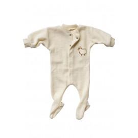 Термокомбинезон для новорожденного Engel из шерсти мериноса бежевый