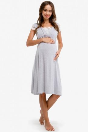 Ночная рубашка для беременных и кормящих Creative Mama Melange chik