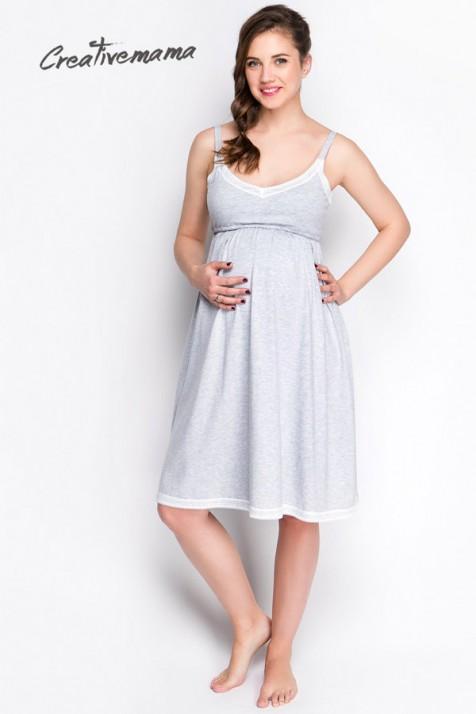 Ночная рубашка для беременных и кормящих Creative Mama Miracle