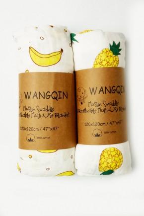 Муслиновая пеленка Wangqin 120х120 разные картинки