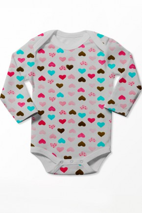 Боди для новорожденных Софія™ принт сердечки