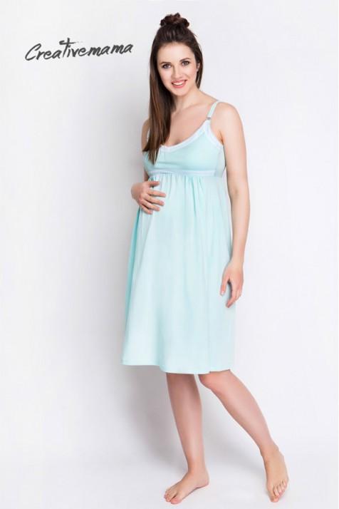 Нічна Сорочка для Вагітних і Годуючих Creative Mama Mint ✿ Замовити ... c1ea0e8b2b0f6