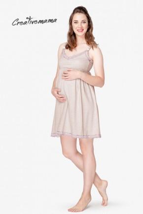Ночная рубашка для беременных и кормящих Creative Mama Latte
