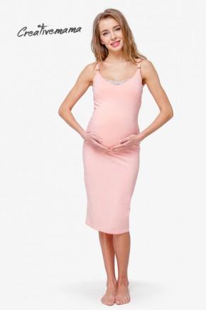 Ночная рубашка для беременных и кормящих Creative Mama Bodycon Peach
