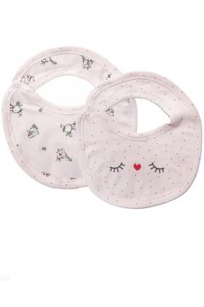 Слюнявчик для новорожденных Мамин Дом кролики 2 шт.