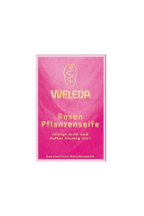 Розовое растительное мыло Weleda 100 гр