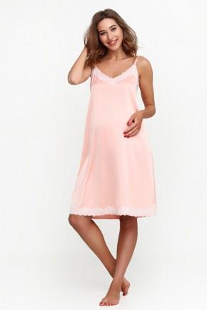 Нічна сорочка для вагітних і годуючих Creative Mama Bodycon Peach