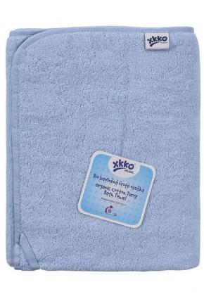 Махровое полотенце банное XKKO 150x75 Organic  - голубое