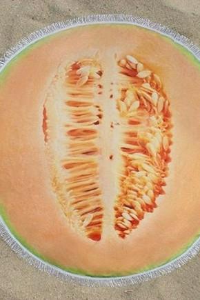 Круглое Полотенце Дыня, 150 см + бахрома