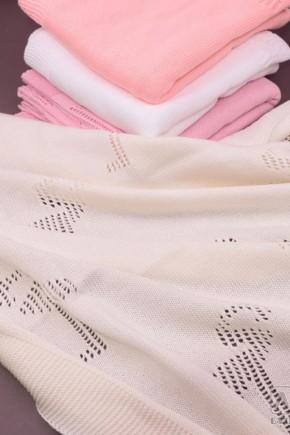 Плед для новорожденных Фламинго нежность 90х90